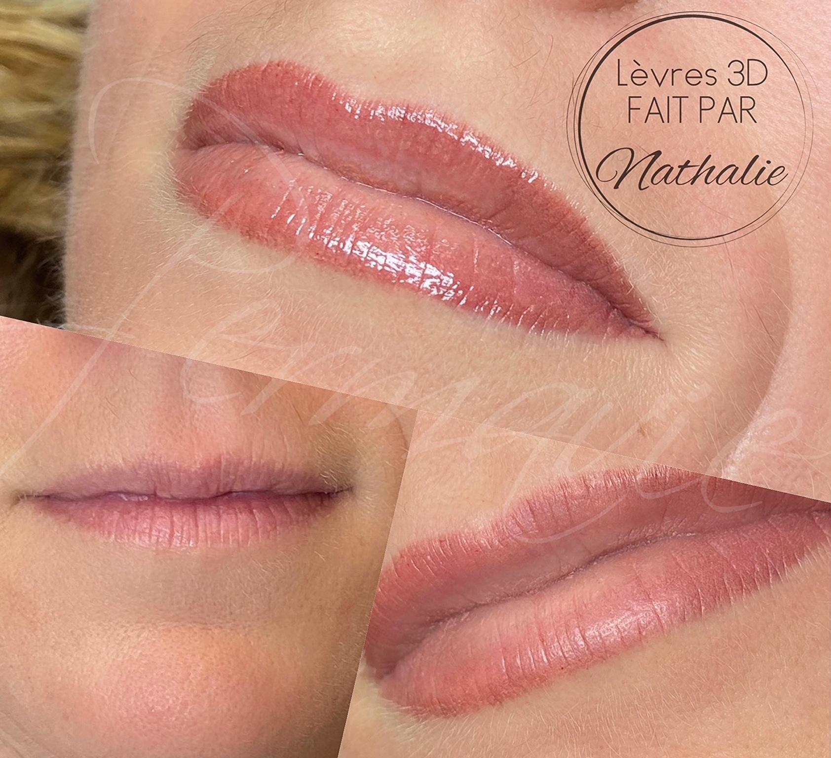 Maquillage permanent Lèvres 3D